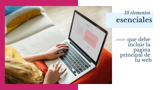 elementos clave pagina principal tienda online