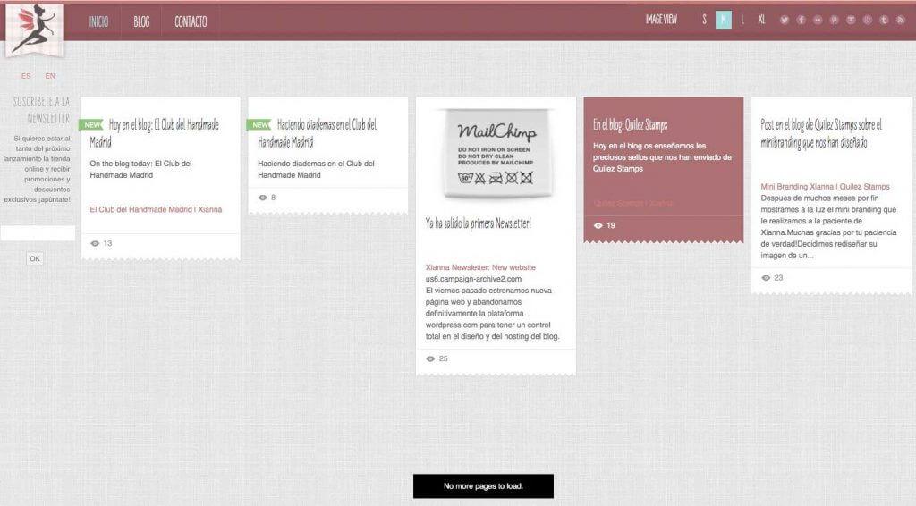 Primera web de Xianna